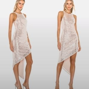 NWT Lovers +Friends Rosalee sequin gown M